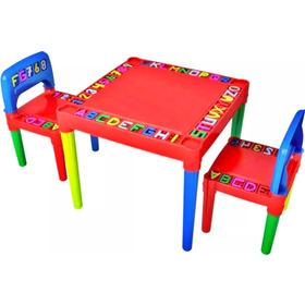 Mesa Mesinha Didática Infantil Com 02 Cadeiras - Tritec