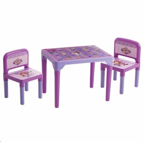 mesa mesinha infantil 2 cadeiras princesa sofia multibrink