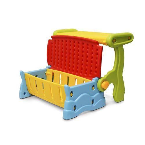 mesa mesinha infantil plástico 3 em 1 banco baú cadeira