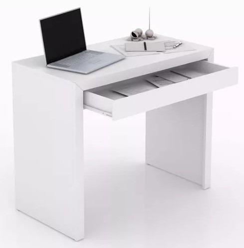 mesa mesinha pequena computador pc branca quarto me07