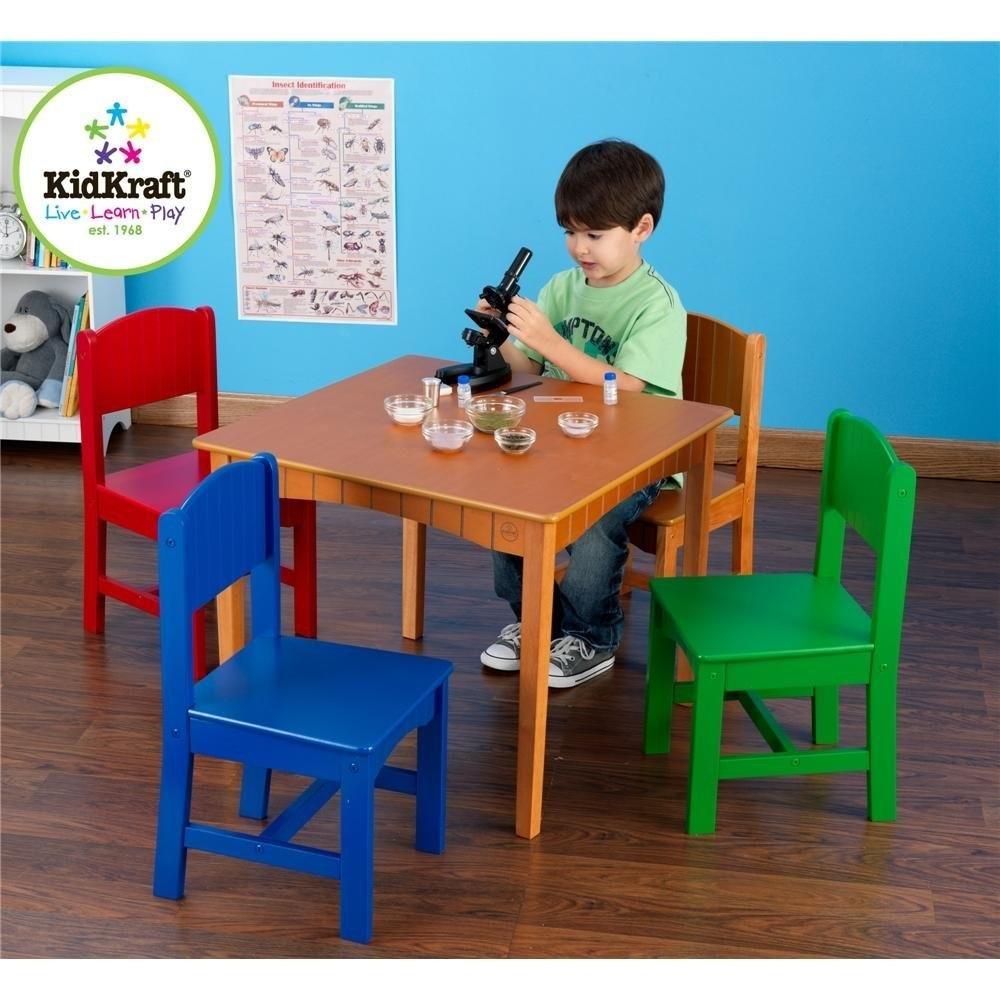 Mesa mesita con sillas kidkraft juego tareas para ni os for Mesas para ninos en walmart