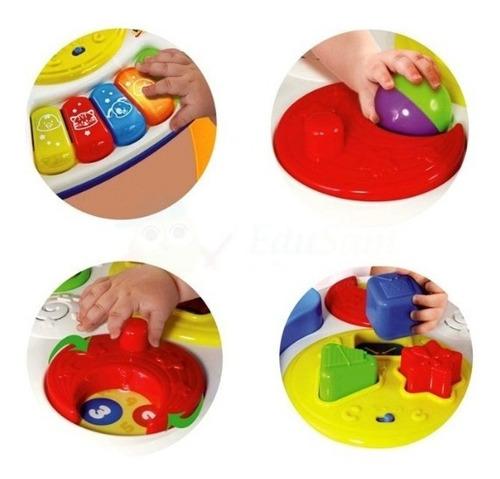 mesa mesita de actividades musical con pelotitas para bebe