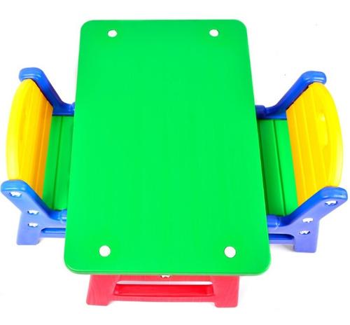 mesa mesita infantil + 2 sillas rodacross interior exterior