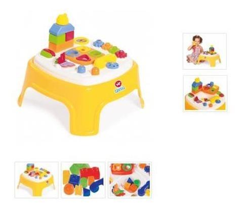 mesa mesita infantil encantada calesita didactica encastre