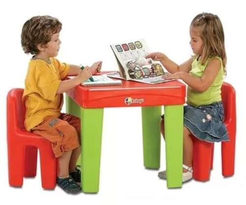 mesa mesita infantil niños rotoys int/ext 2 a 6 años