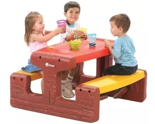 mesa mesita picnic camping niños rotoys indestructible +1 añ