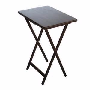 Mesa mesita plegable auxiliar arrimo centro madera caf for Mesa centro plegable