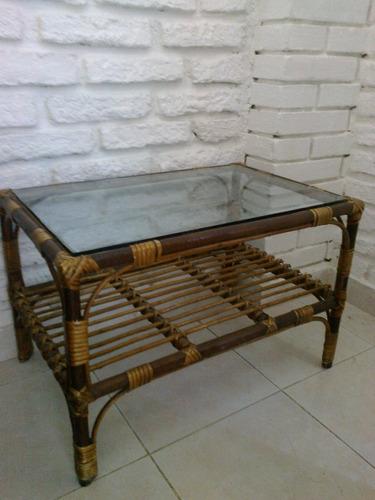 mesa mimbre