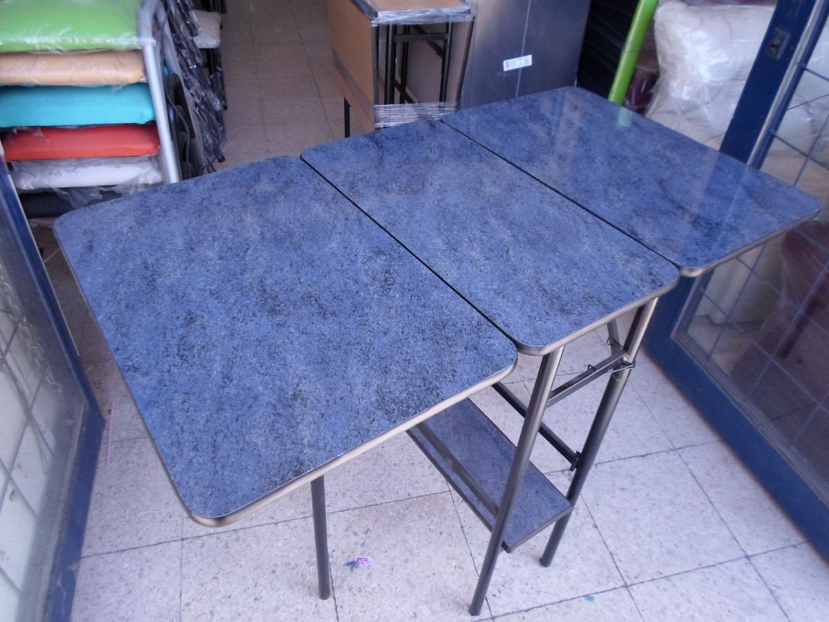 Mesa Minimesa Plegable Con Estante F Rmica Y Melamina 1 065 00  # Muebles Faciles Liniers
