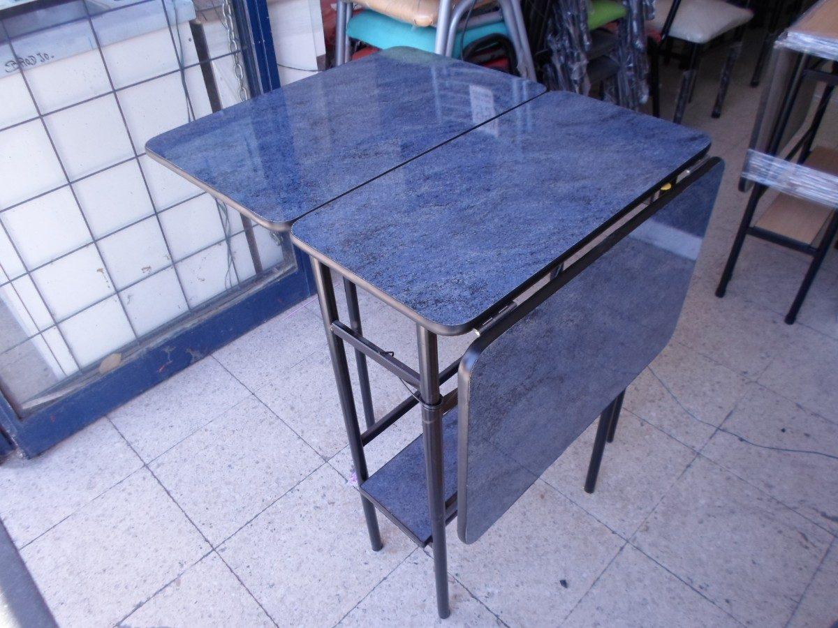 Mesa minimesa plegable con estante f rmica y melamina for Mesa plegable mercado libre