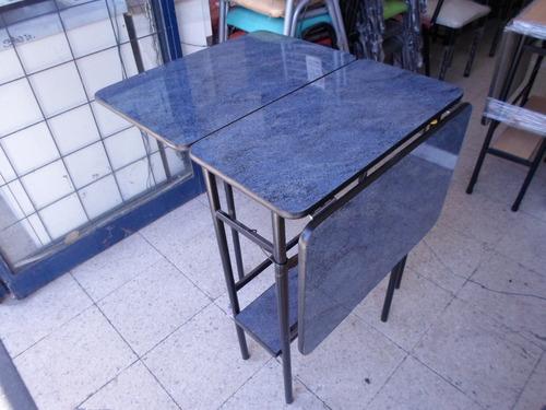 mesa minimesa plegable con estante fórmica y melamina