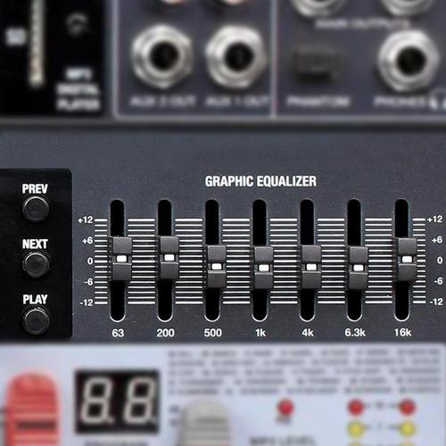 mesa mixer 16 canais novik nvk 1602 btv 220v com 99 efeitos
