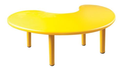 mesa mobiliario para niños varios colores media luna