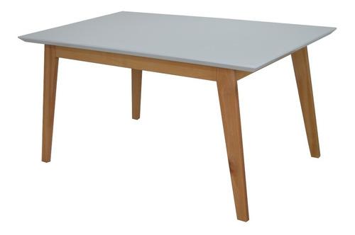 mesa moderna comedor de 6 puestos blanco natural. fidenza