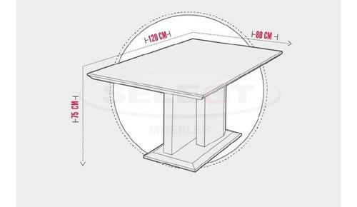 mesa moderna de 4 puestos blanco y negro base en acero venus