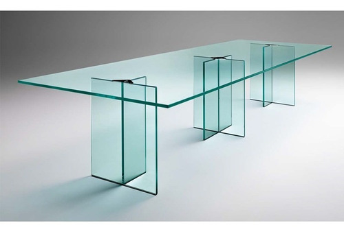 mesa moderna de vidrio! 92 x 250cm. diseño minimalista.