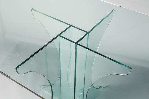 mesa moderna de vidrio! diseño minimalista.