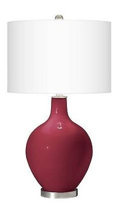 Mesa Para Rojo Cristal Ovo Moderna Antiguo La Sala Lámpara Nwm08n