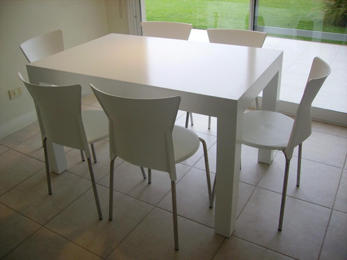 Mesa Moderna Laqueada 90x1,30 Minimalista 6 Pers Hot Sale ...