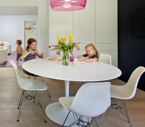 mesa moderna tlip diseño 1,10 m diam. eero saarinen