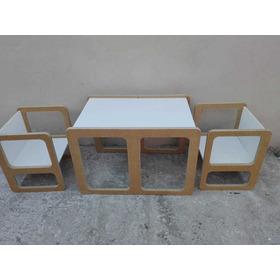Mesa Montessori Con 2 Sillas