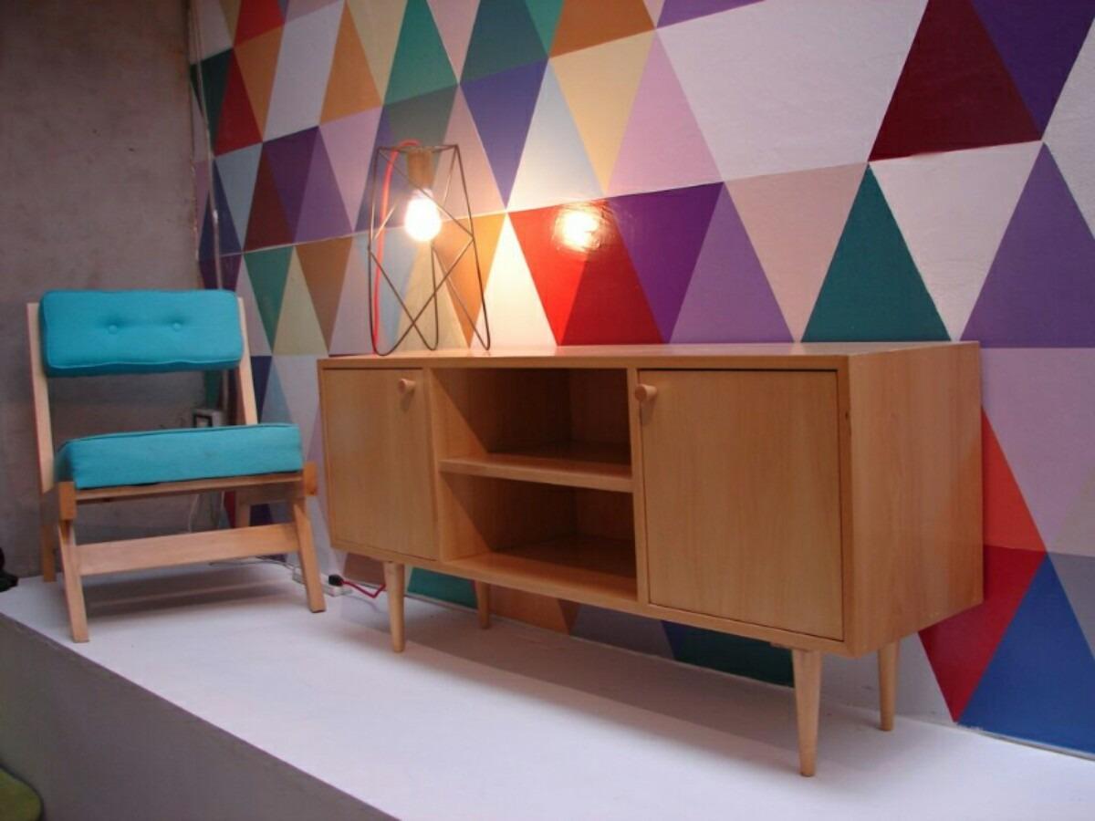 Mesa Mueble Tv Lcd Moderno Retro Madera Lustrada Mobler -  7.300 ...