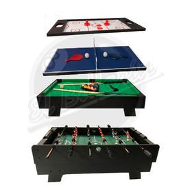 Mesa Multijuegos 4 En 1 Futbolin, Billar, Hockey, Ping Pong