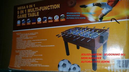 mesa multijuegos 9 en 1 grande futbolito hockey pool navidad