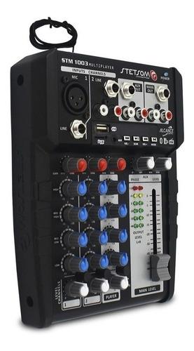 mesa multiplayer stetsom stm1003 bluetooth usb + controle sx