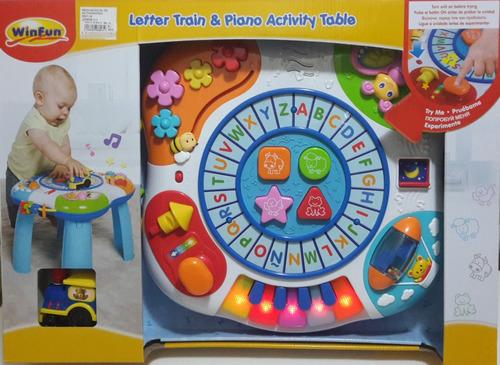 mesa musical de actividades nueva 2 en 1 win fun bebe unisex