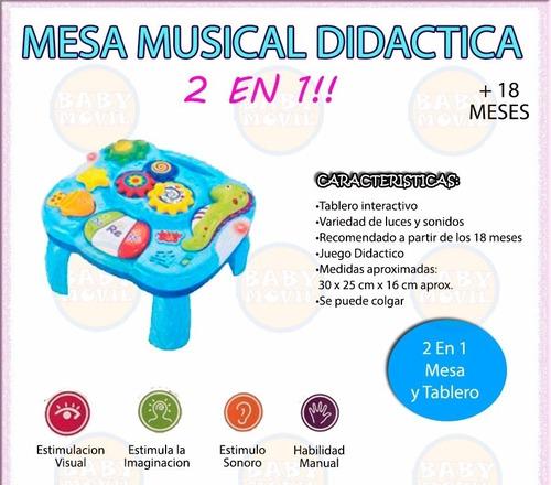 mesa musical didactica con luces y sonidos zippy babymovil