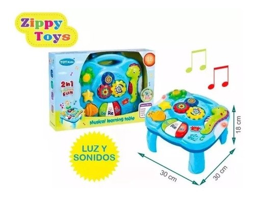 mesa musical didáctica con luces y sonidos zippy toys
