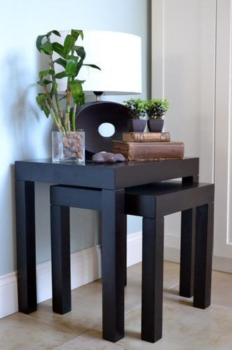 mesa nido laterales sillon madera laqueada modernas ratonas