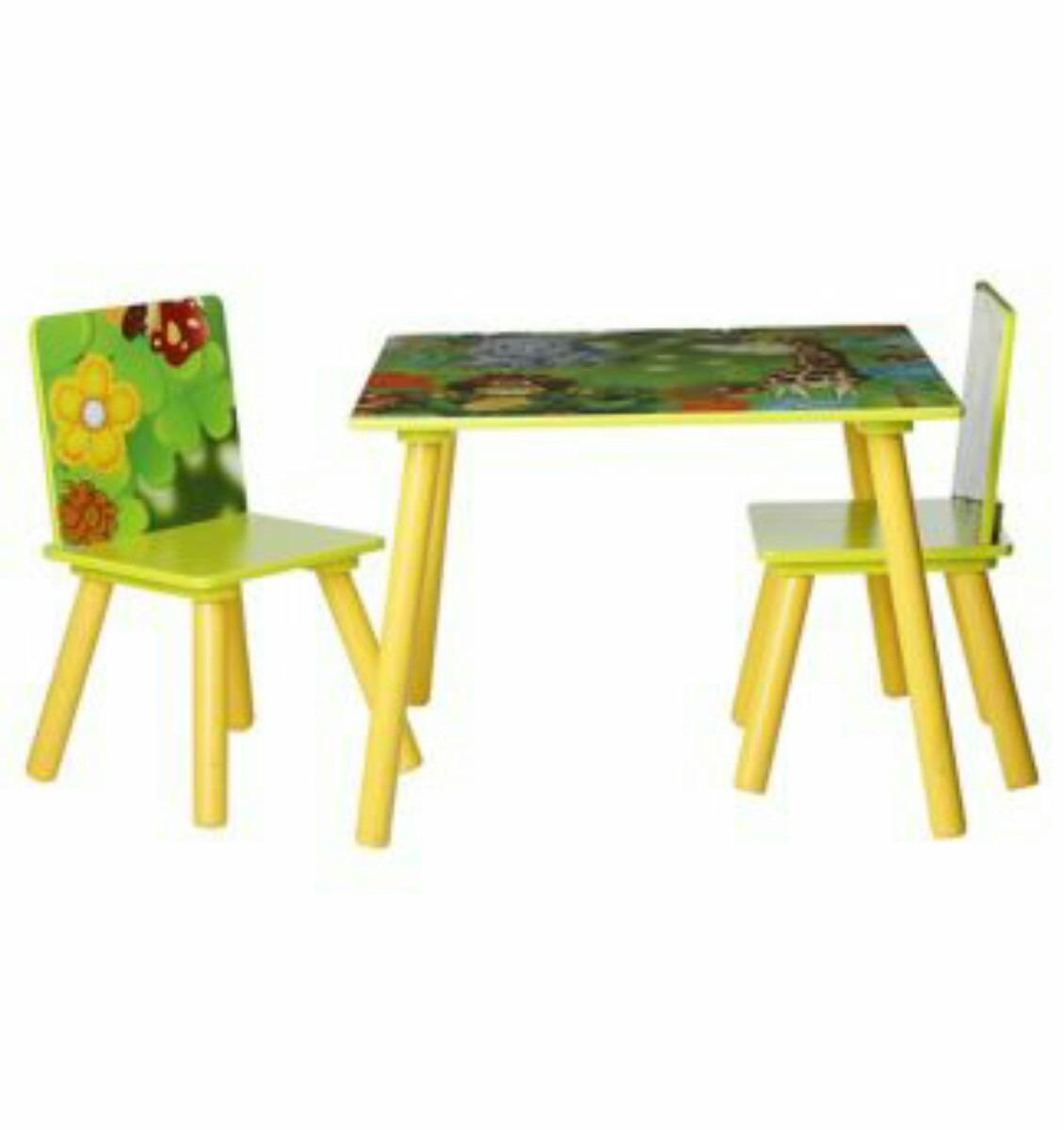 Mesa Niños Con 2 Sillas Selva/plasticos Morija - $ 64.900 en Mercado ...