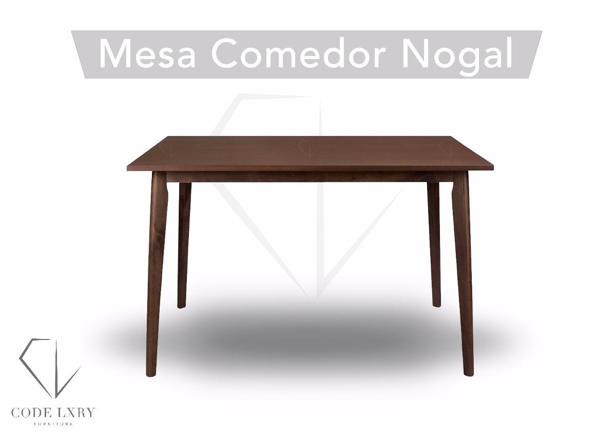 Mesa Nogal Mesa Comedor - $ 4,899.00 en Mercado Libre
