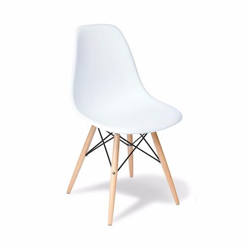 mesa nordica escandinava 70x120 + 4 sillas eames stockhoy