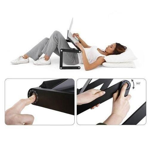 mesa notebook com 2 cooler mousepad cabo usb pronta entrega