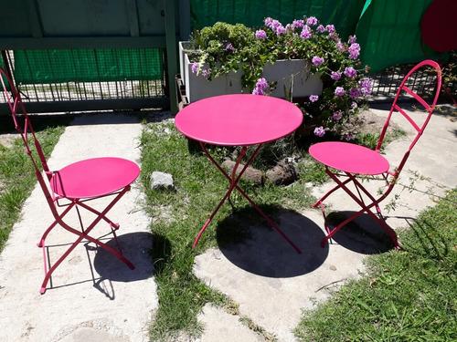 mesa  o sillas cerveceras tipo quilmes  vintage