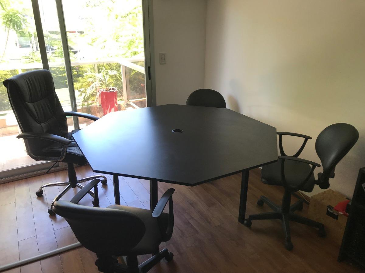 Mesa Octagonal Sillas Oficina Trabajo Oferta Juego - $ 6.200,00 en ...