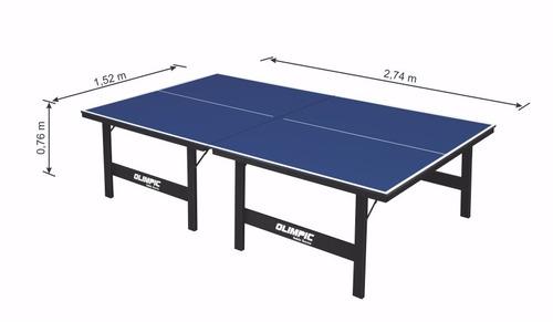 mesa oficial para tenis de mesa 15 mm com kit completo