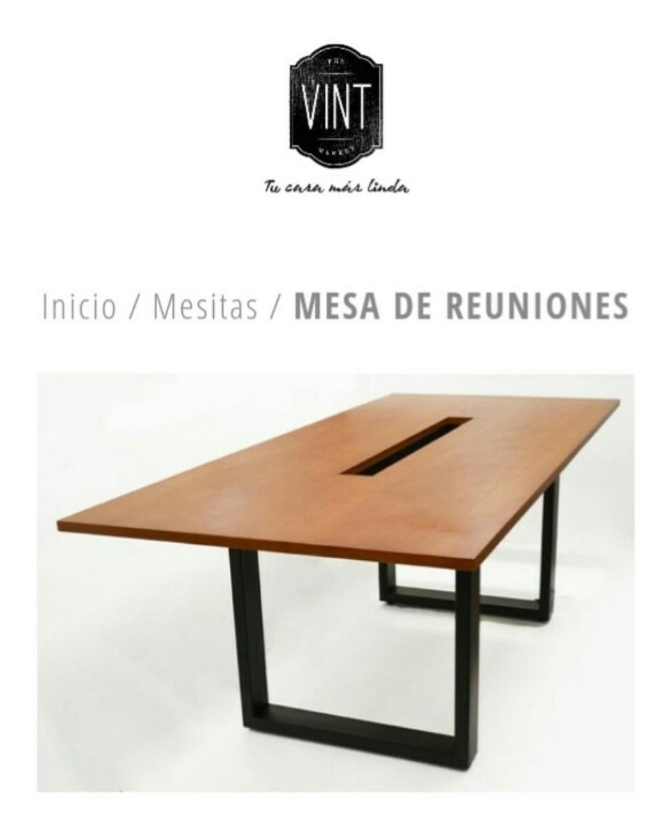 Mesa Oficina Mesa De Reuniones C/enchufes Hierro Y Madera - $ 28.800 ...