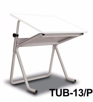 mesa p desenho tub 13 80x100cm bp-100 trident tampo branco