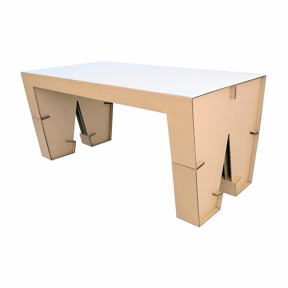 Mesa para 4 sillas w2 de carton dglaf con cubierta 1 en mercado libre - Mesas de carton ...