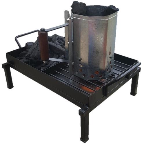 mesa para arrancador chimenea carbon asador lucas malone