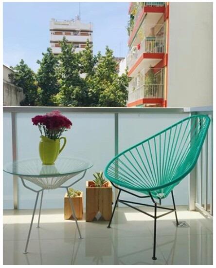 mesa para balcon patios internos modelo acapulco mexicana