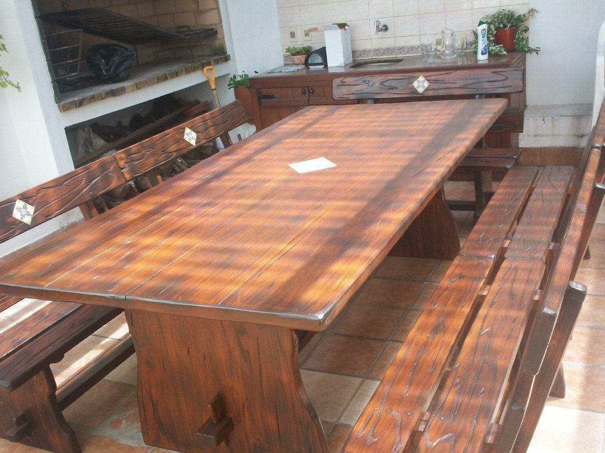 mesa para barbacoa x x 2 pulgadas
