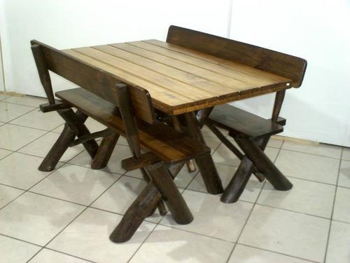 mesa para churrasco /churrasqueira / rústica em pinus 1,35m