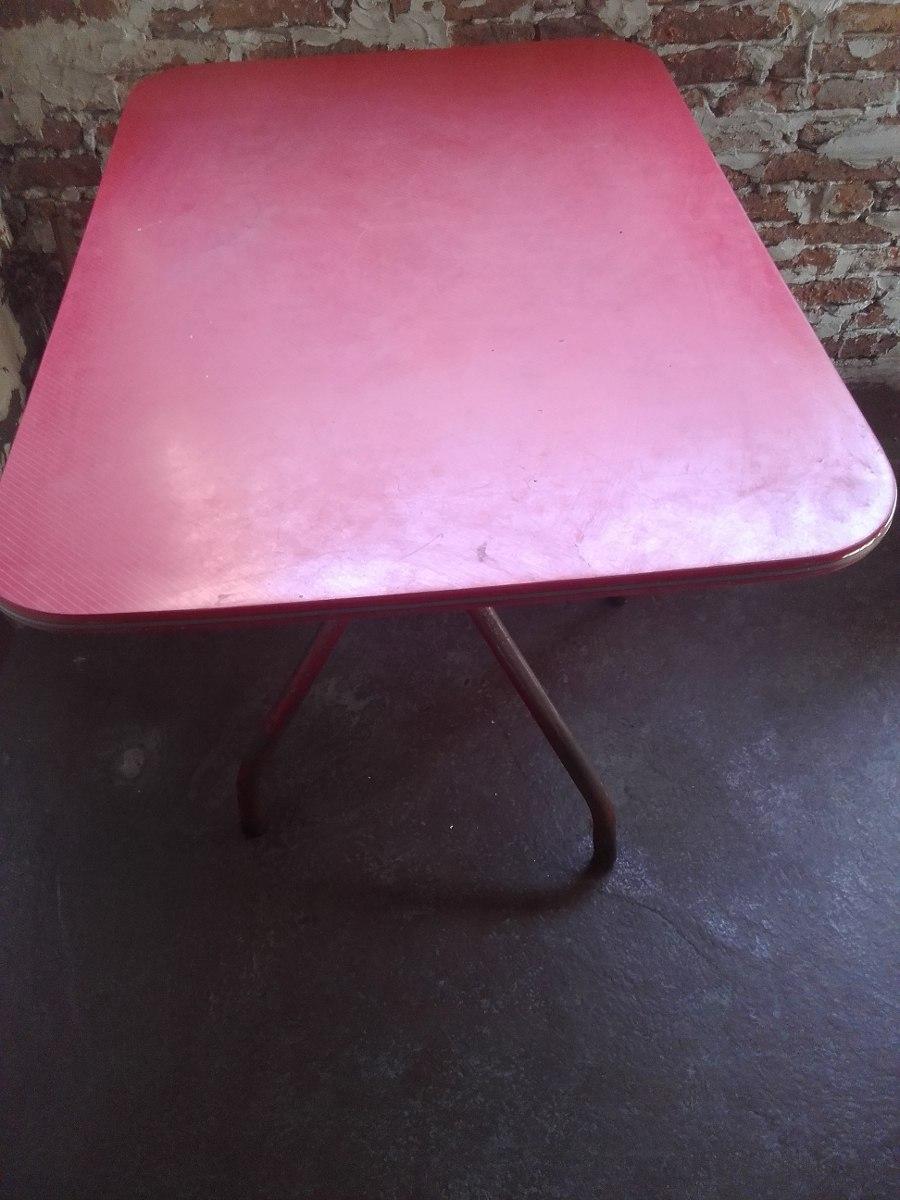Mesa Para Cocina De Fórmica Roja - Excelente - $ 1.500,00 en Mercado ...