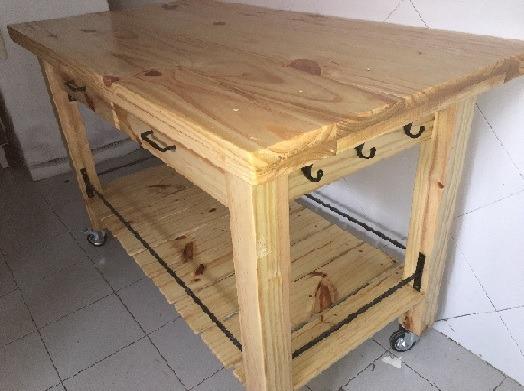 Mesa Para Cocina En Madera Y Hierro Durarte Uy 9 500 00 En