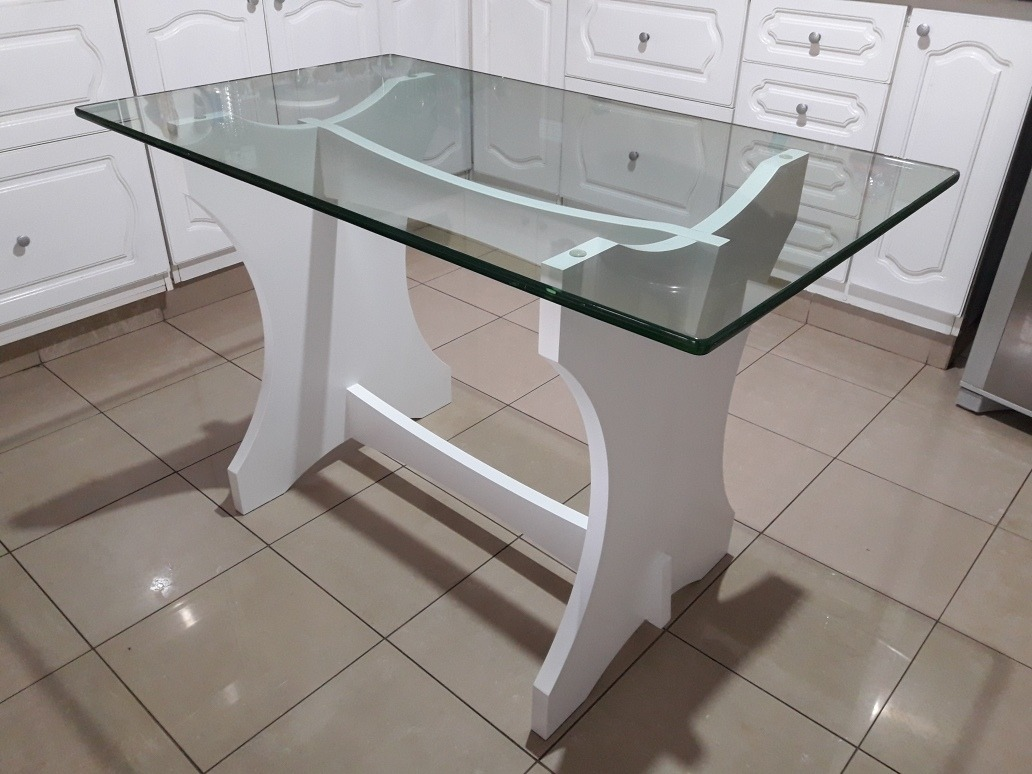 Mesa Para Cocina O Comedor Diario. Vidrio Y Madera. - $ 4.200,00 en ...